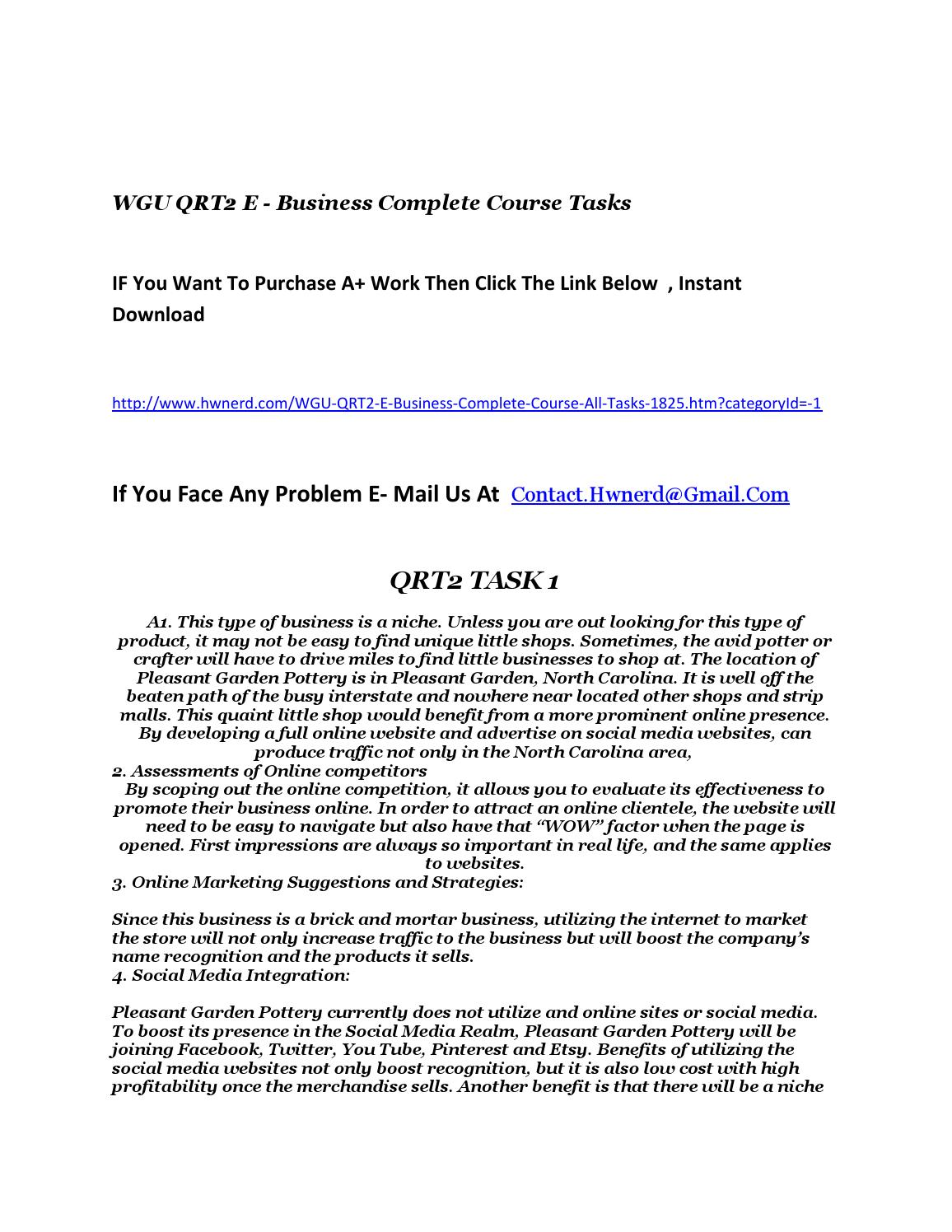 Wgu qrt2 e business complete course by chifonm - issuu