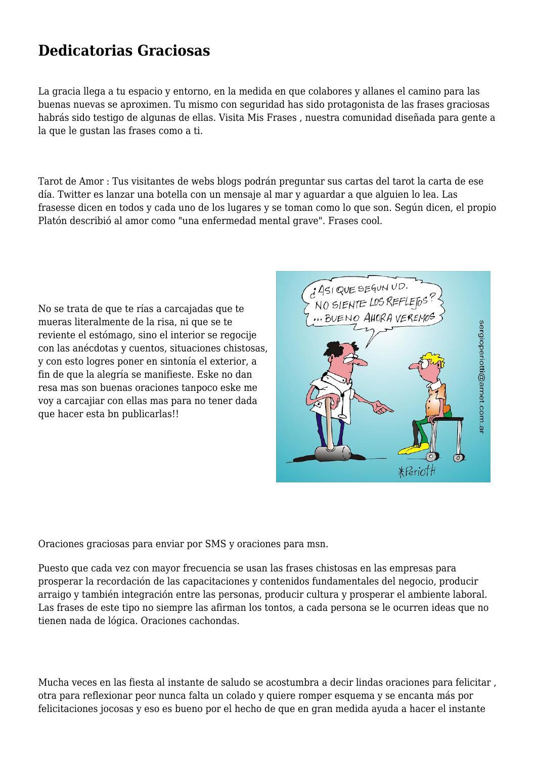 Dedicatorias Graciosas By Humorychistes40 Issuu