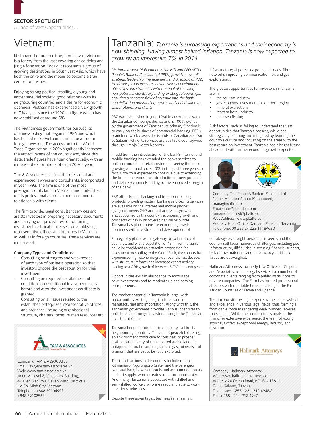 Acquisition International March 2014 by AI Global Media - issuu