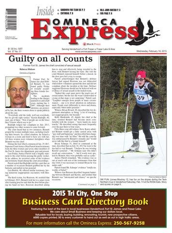 Vanderhoof Omineca Express, February 18, 2015