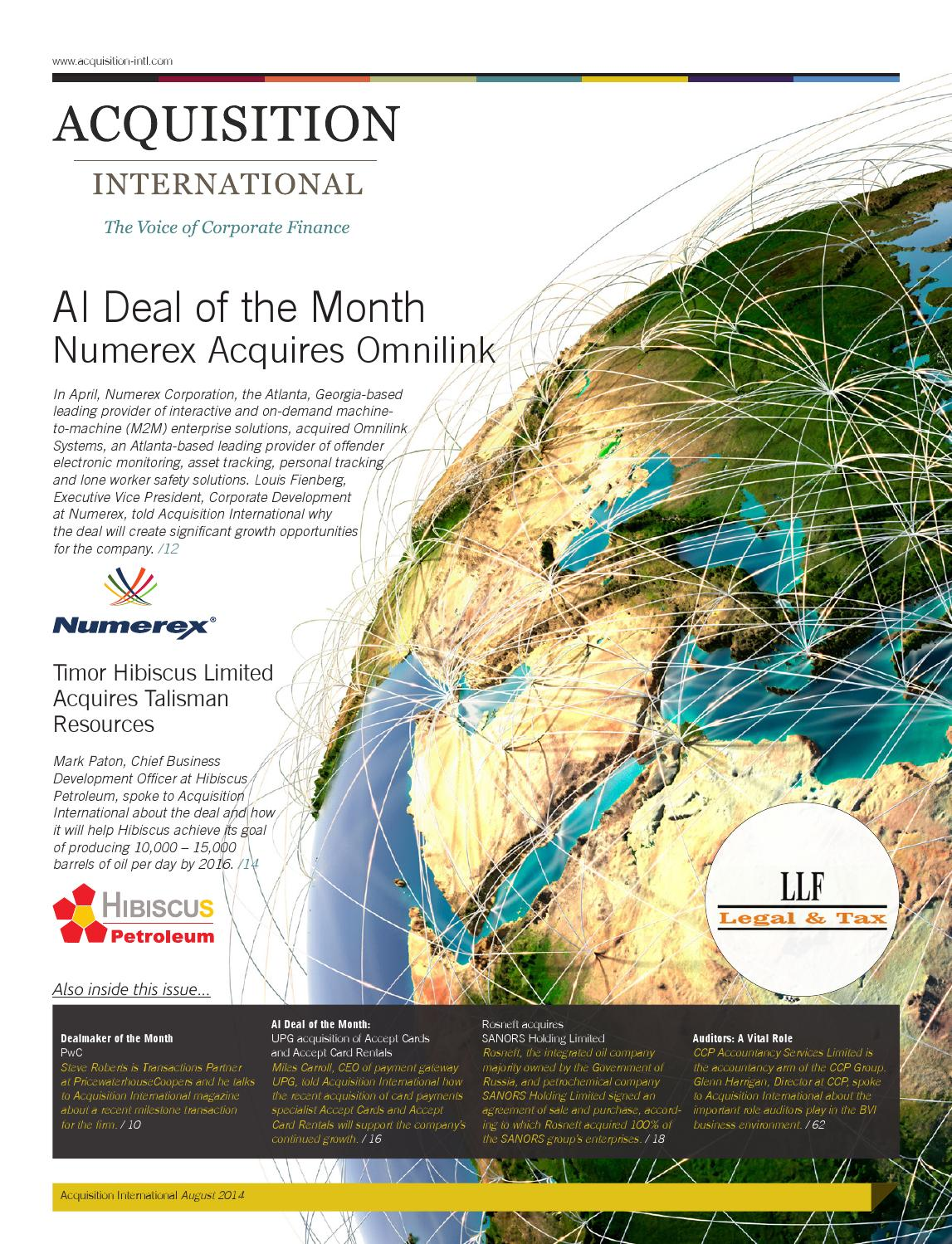 2a03e1687f Acquisition International August 2014 by AI Global Media - issuu