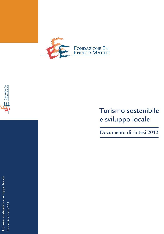 Turismo Sostenibile e Sviluppo Locale by FEEM Special