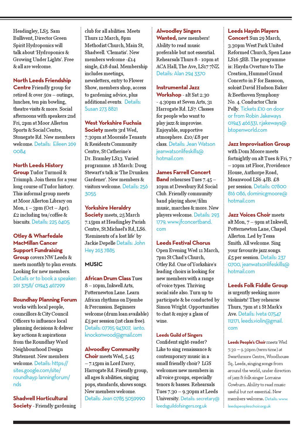 North Leeds Life Magazine  March 2015 Edition  LS7, LS8
