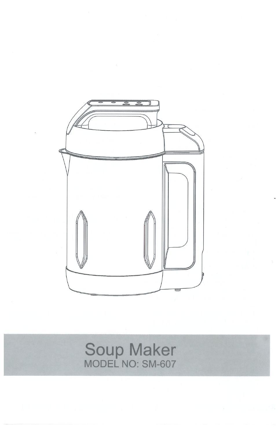 smart living soup maker manual