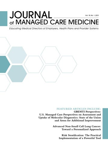 Journal Of Managed Care Medicine Volume 18 Number 1 By