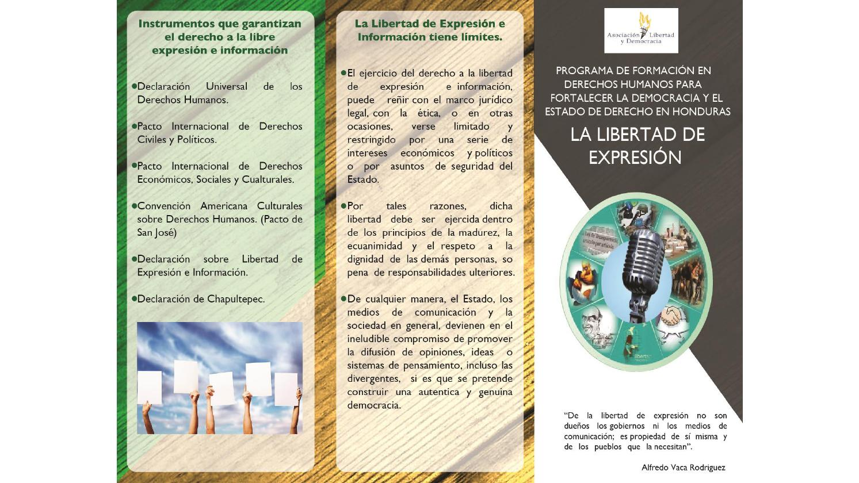 Brochure Libertad De Expresi 243 N By Proyecto Derechos