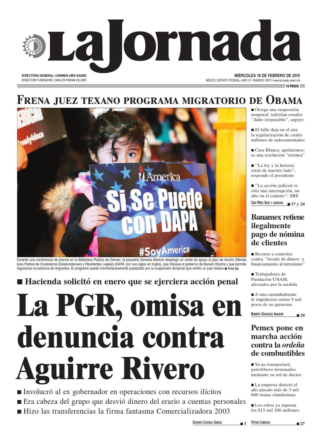 La Jornada, 02/18/2015 by La Jornada: DEMOS Desarrollo de Medios ...