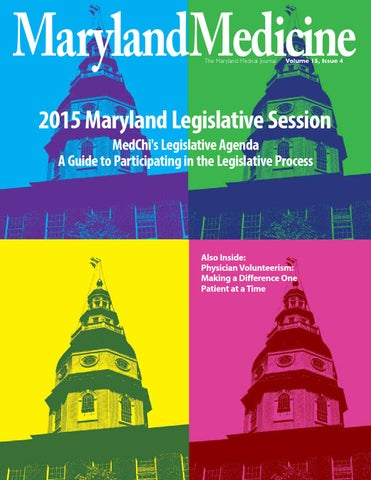 Maryland Medicine Vol 15 Issue 4 By The Maryland State Medical