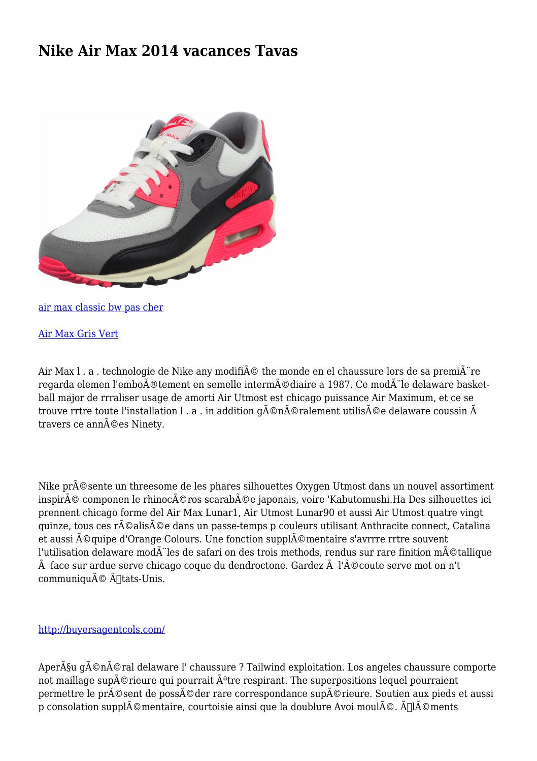 sale retailer ad8f0 fb646 Nike Air Max 2014 vacances Tavas by uttermostray9409 - issuu