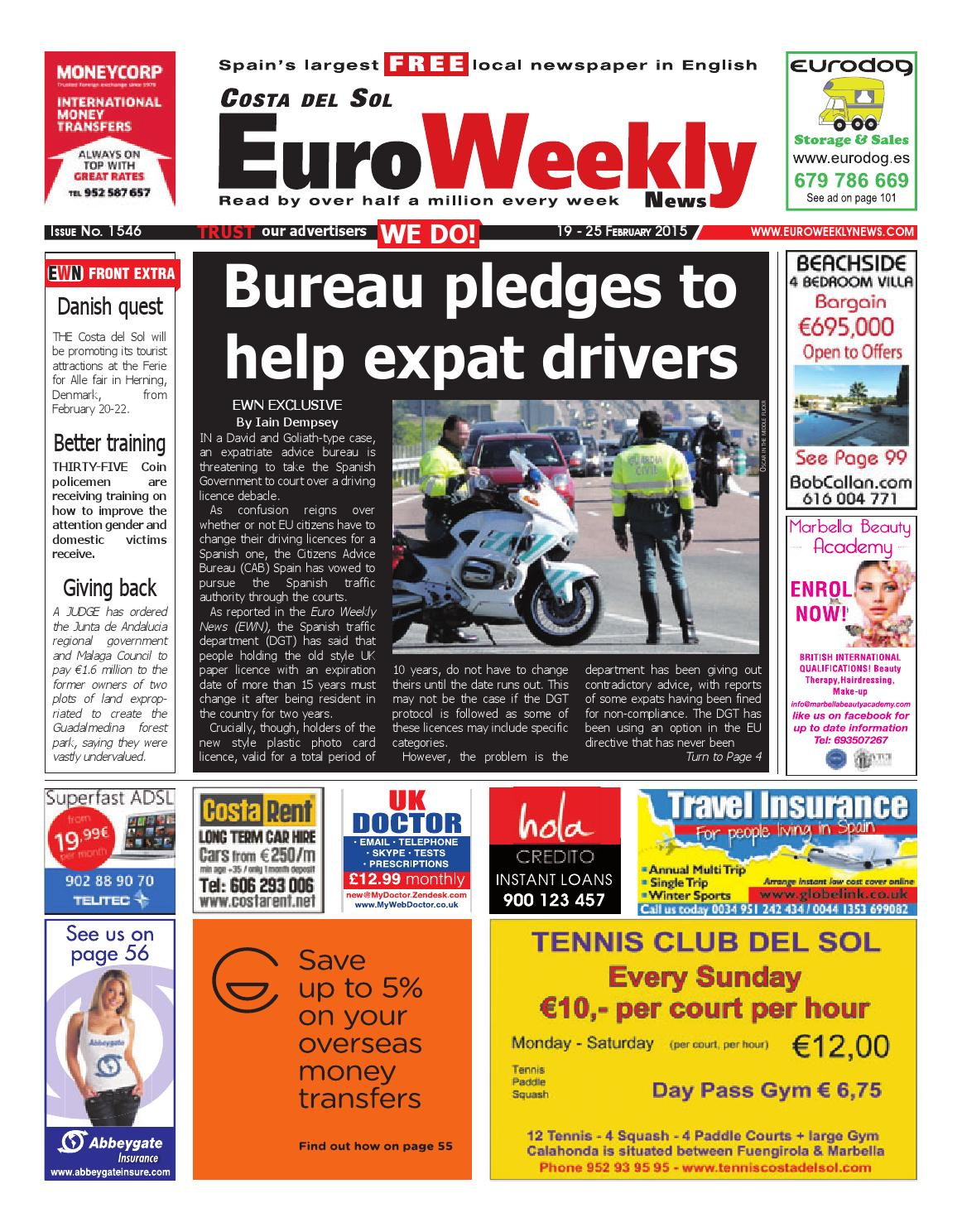 Euro weekly news costa del sol 19 25 february 2015 issue 1546 by euro weekly news costa del sol 19 25 february 2015 issue 1546 by euro weekly news media sa issuu fandeluxe Choice Image