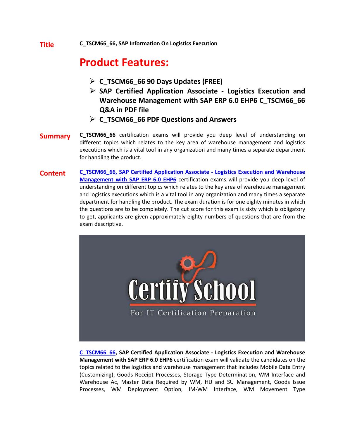 C_TSCM66_66 Exam Questions & Answers by dalestyen - issuu