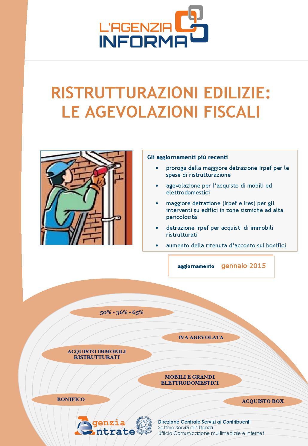 Guida ristrutturazioni edilizie gennaio 2015 by ambient7 s for Spese arredo immobili ristrutturati