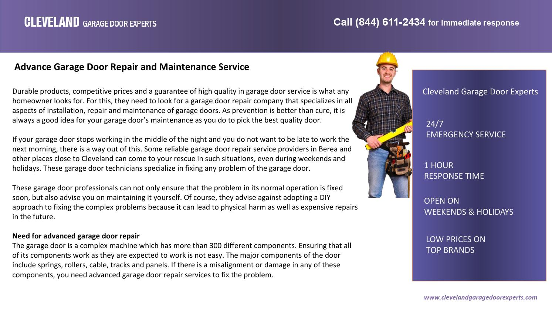 Advance Garage Door Repair And Maintenance Service By Brett Stave   Issuu