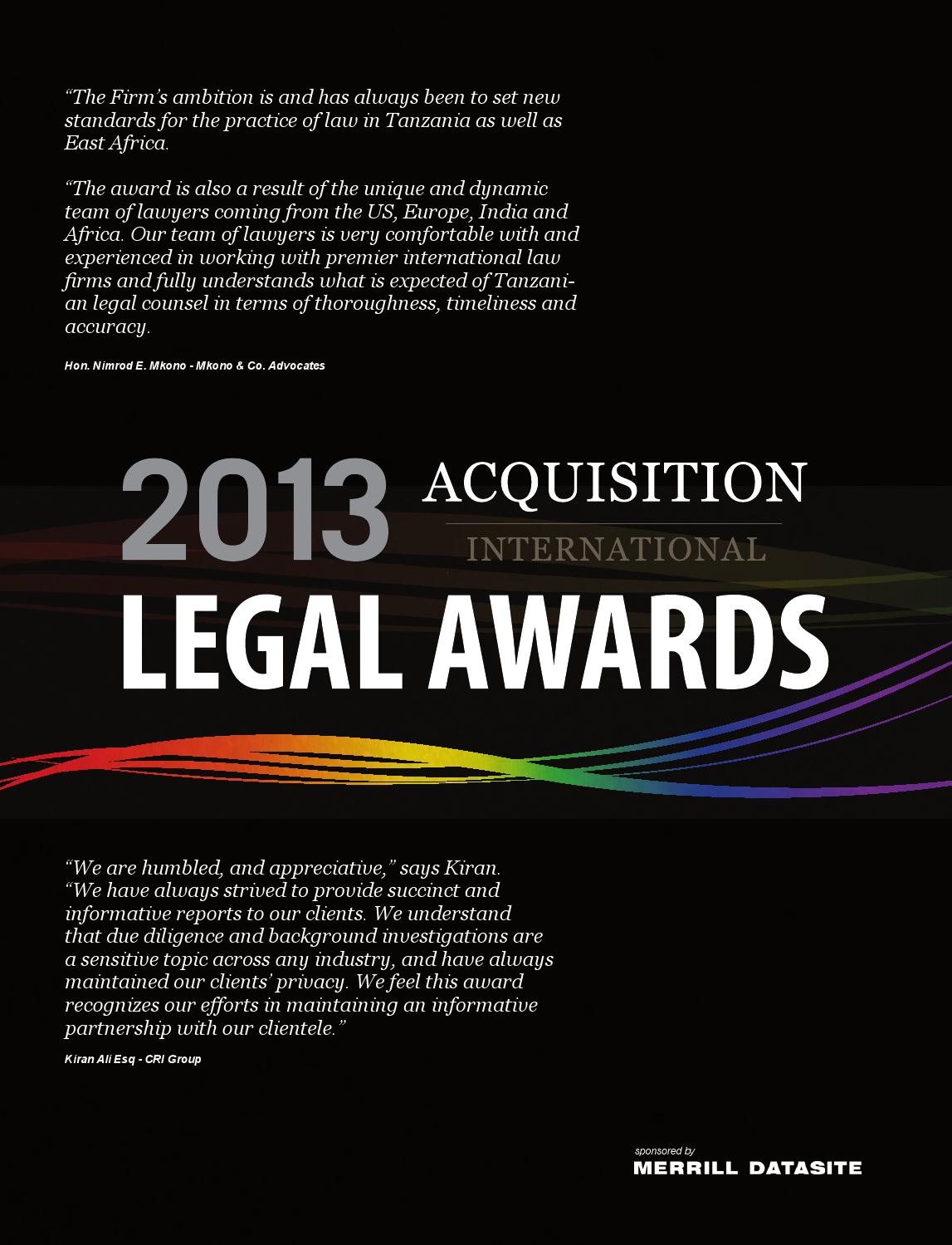 Legal awards 2013 by AI Global Media - issuu d582b8a97