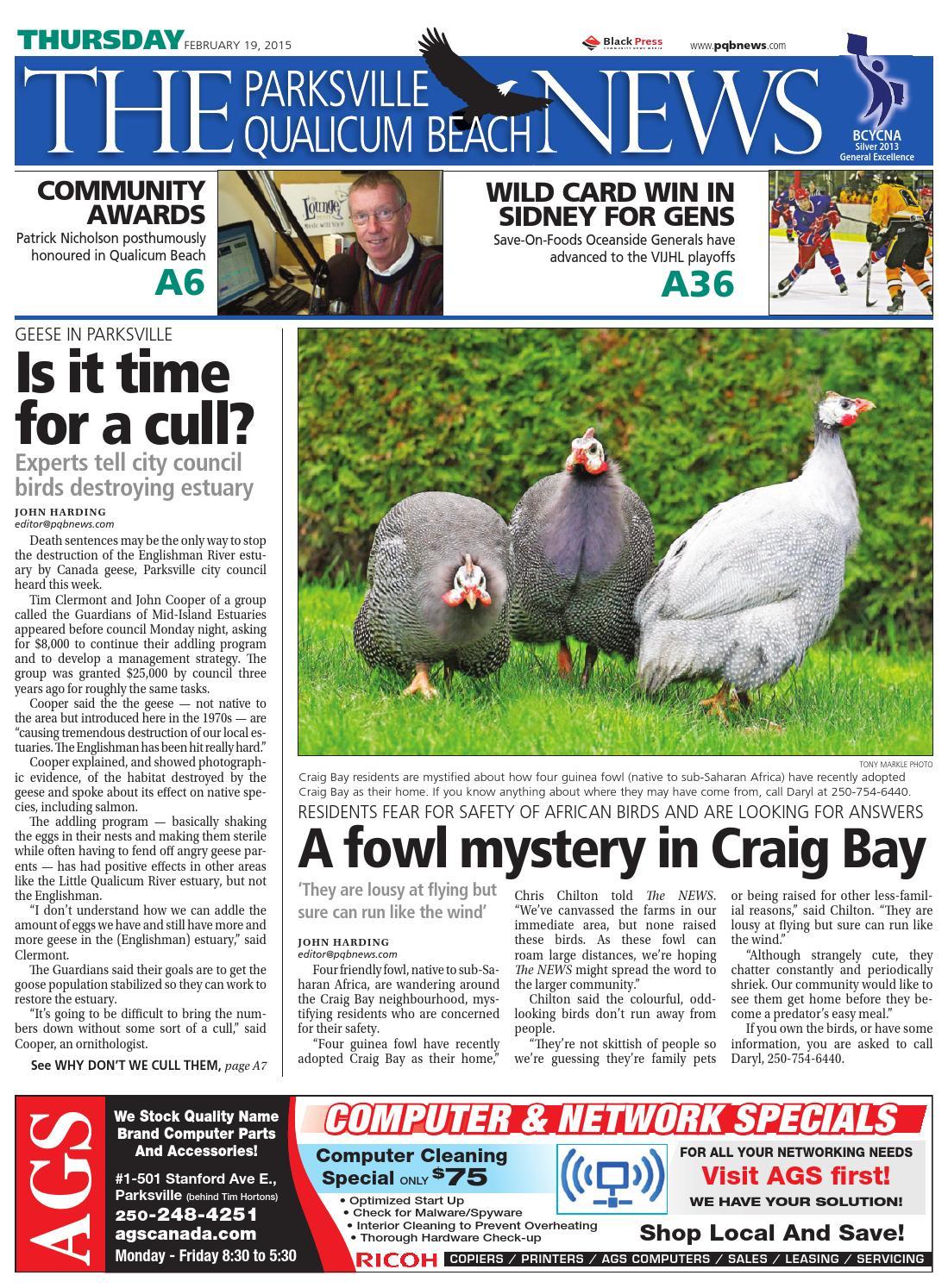 Parksville Qualicum Beach News, February 19, 2015 by Black Press - issuu