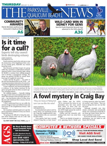 Parksville Qualicum Beach News, February 19, 2015 by Black Press