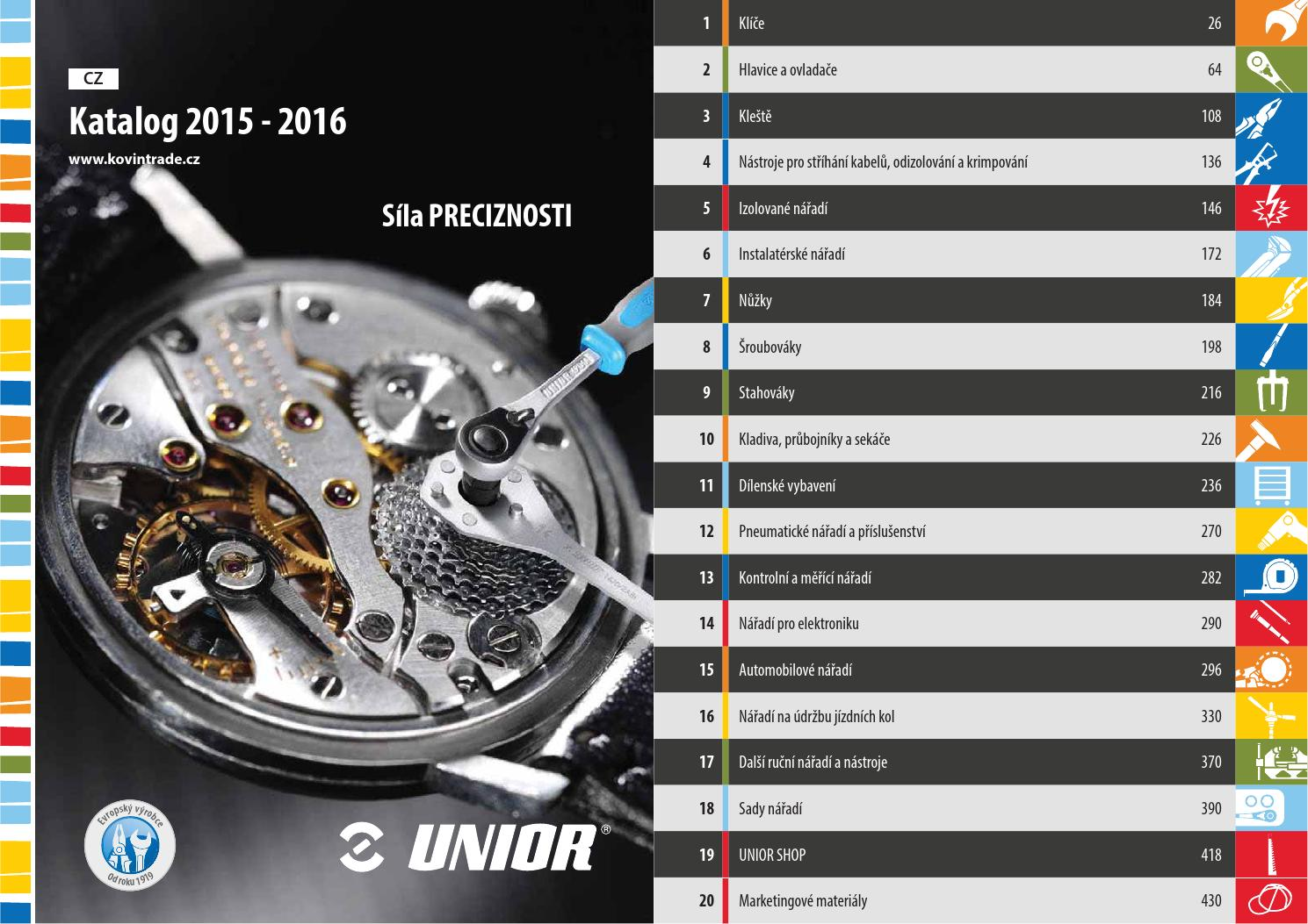 5799140b6a0 Catalogue 2015 2016 CZ by Unior d.d. - issuu
