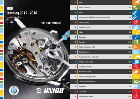 e6c8a07d80 Catalogue 2015 2016 CZ by Unior d.d. - issuu