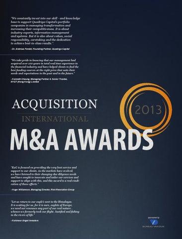 M&A awards 2013 by AI Global Media - issuu