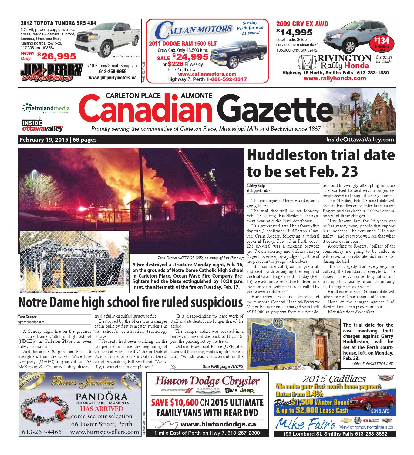 Almontecarletonplace021915 by Metroland East - Almonte Carleton Place  Canadian Gazette - issuu 5691056cf