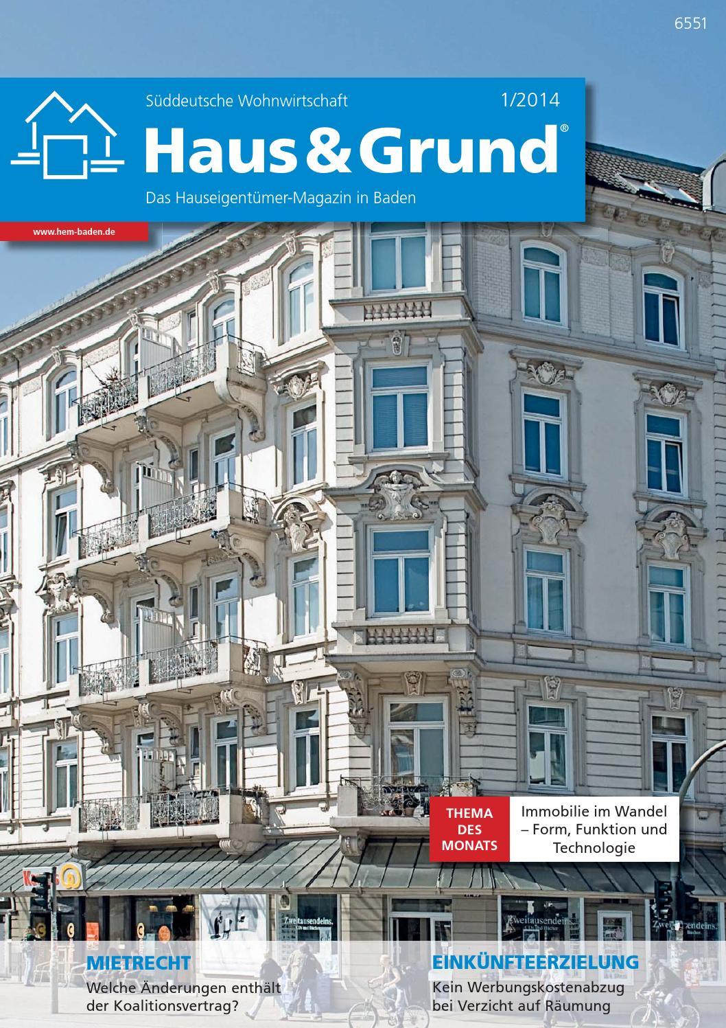 Haus & Grund Baden - Das Hauseigentümer-Magazin in Baden by ...