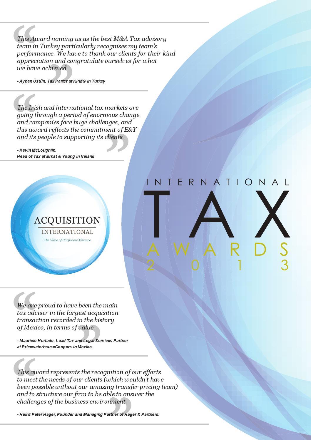 Tax awards 2013 by AI Global Media - issuu