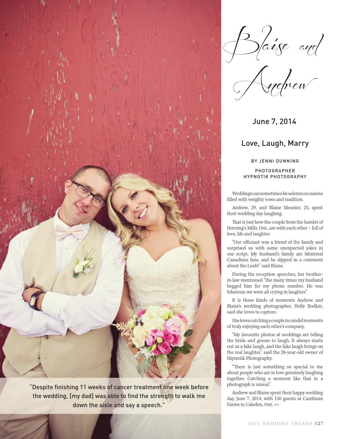 Wedding Trends 2015 by GoodLife Magazine - Simcoe County - issuu