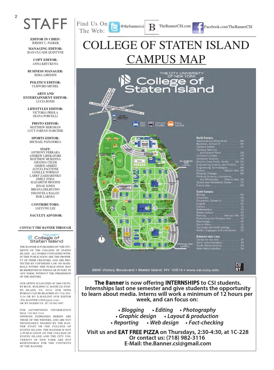 CSI's The Banner Issue 8 by The Banner - issuu on staten island college map, staten island new york map, staten island zip code map,