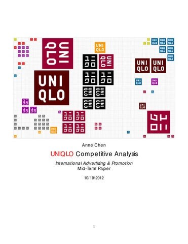 uniqlo competitive analysis by chena issuu page 1