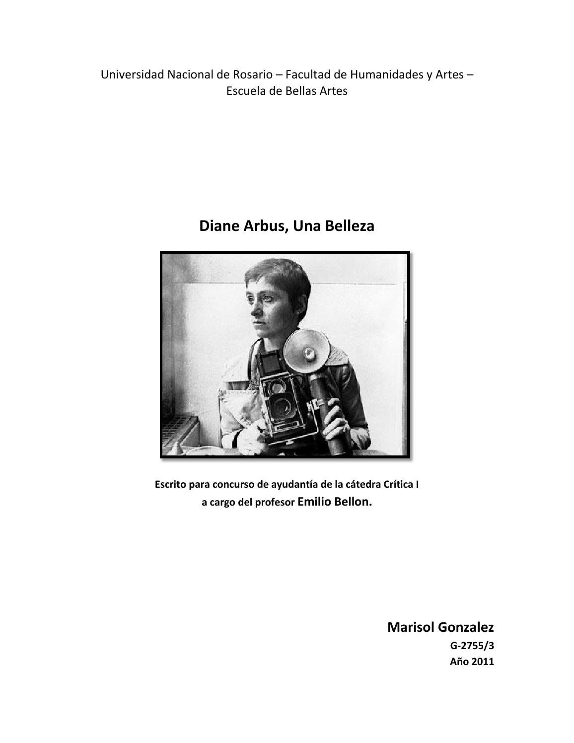 Diane arbus, una belleza by Marisol Gonzalez - issuu