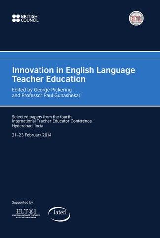 tec14 innovation in english language teacher education by british