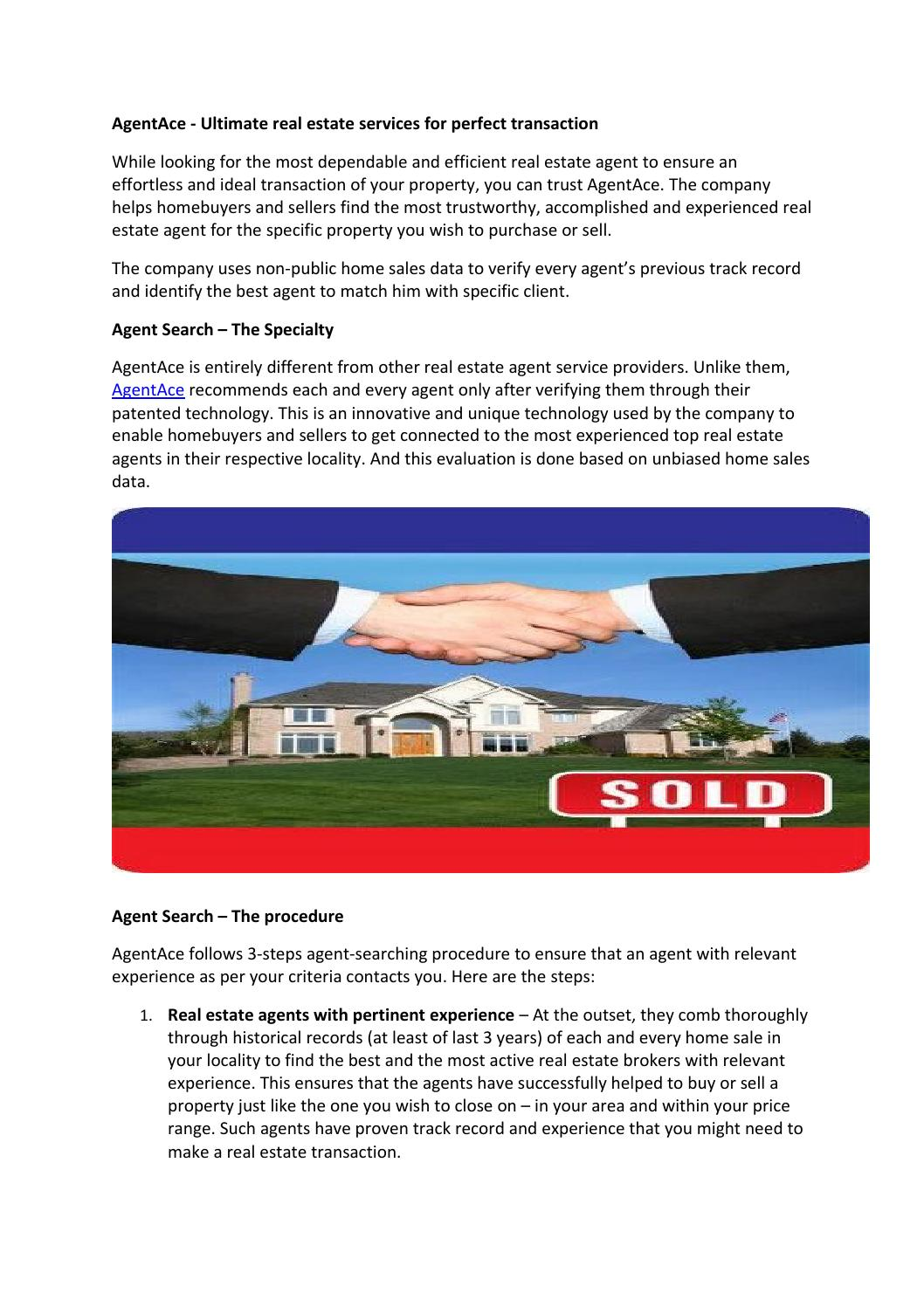 Agentace - ultimate real estate services for perfect