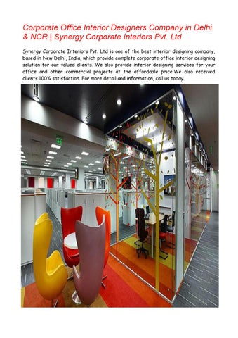 office interior designers in delhi ncr by synergy corporate