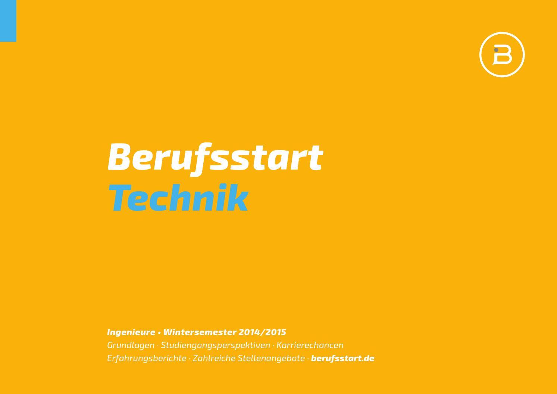 Berufsstart Technik Wintersemester 201415 by Berufsstart