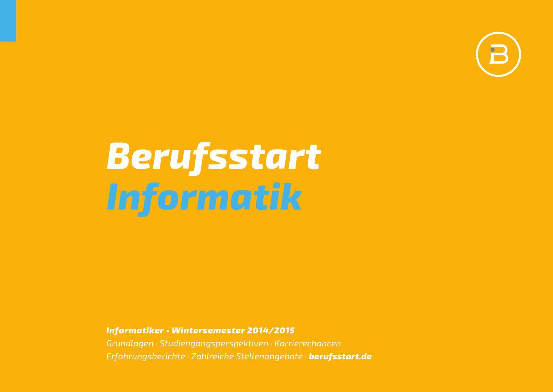 Berufsstart Informatik Wintersemester 2014 by Berufsstart - issuu