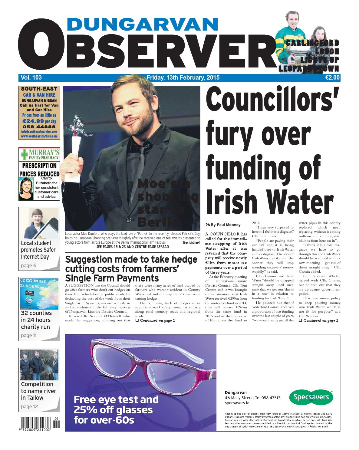 Dungarvan observer 20 11 2015 edition by Dungarvan - Issuu