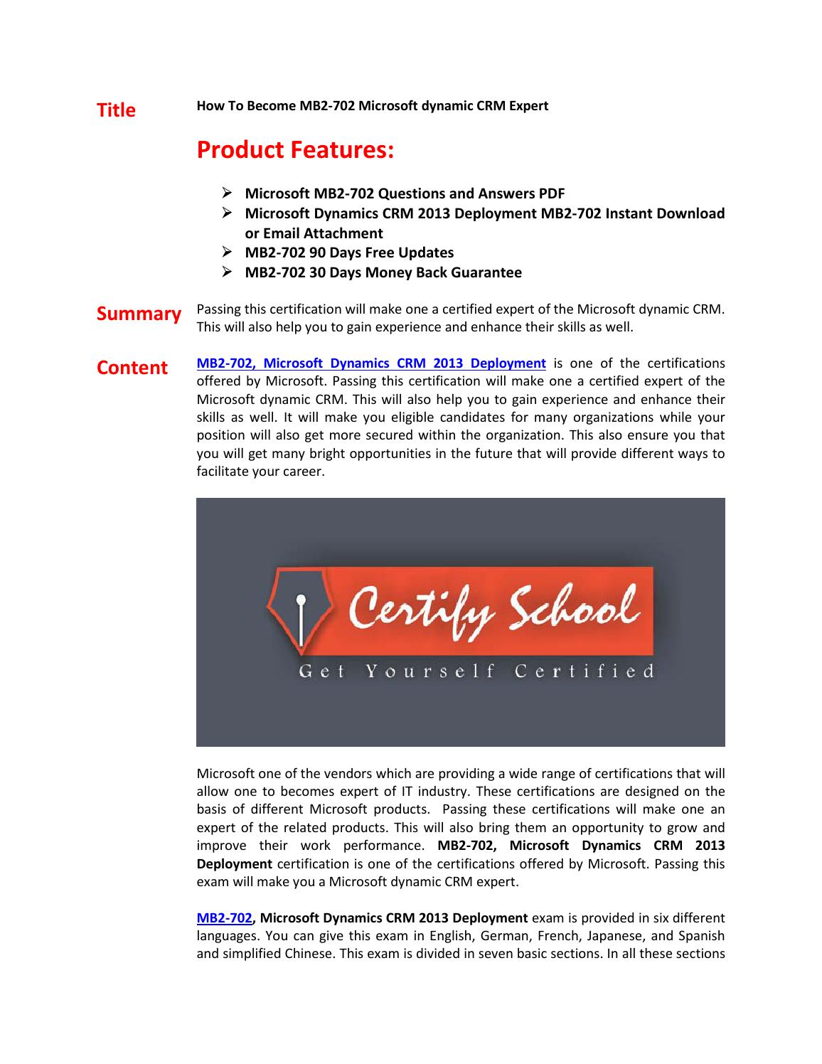 Mb2 702 Exam Questions Answers By Dalestyen Issuu