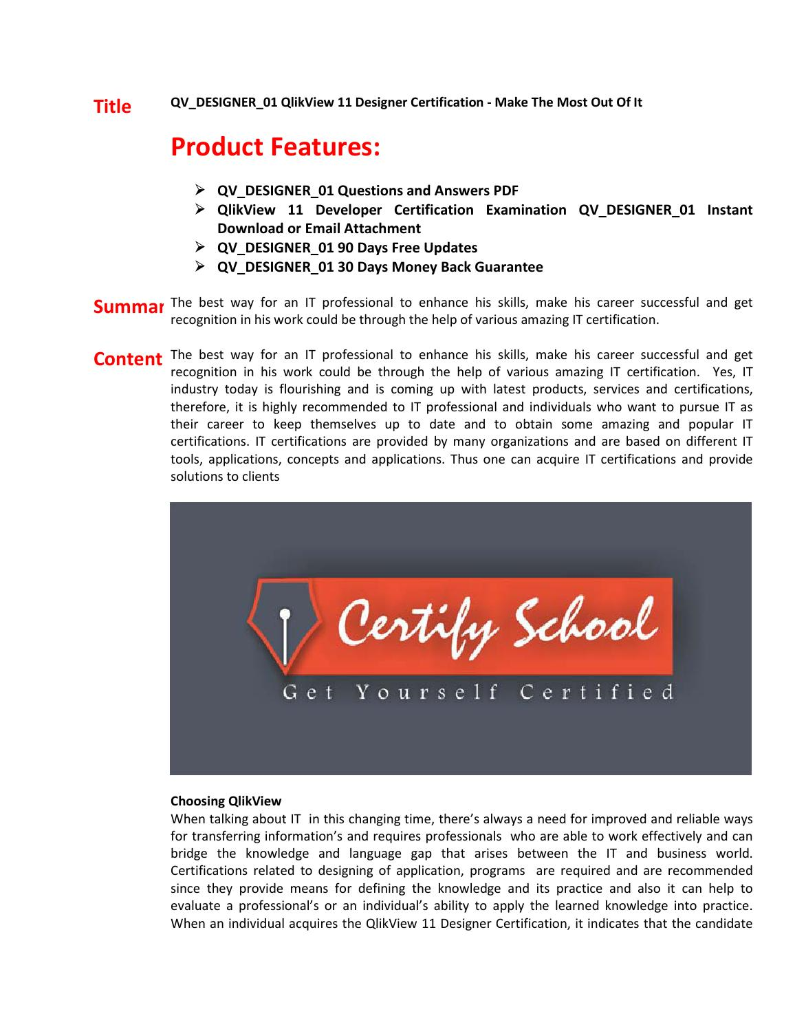 Qvdesigner01 Exam Questions Answers By Dalestyen Issuu