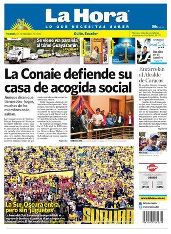 Quito 20 febrero 2015 by Diario La Hora Ecuador - issuu 7b484c15233