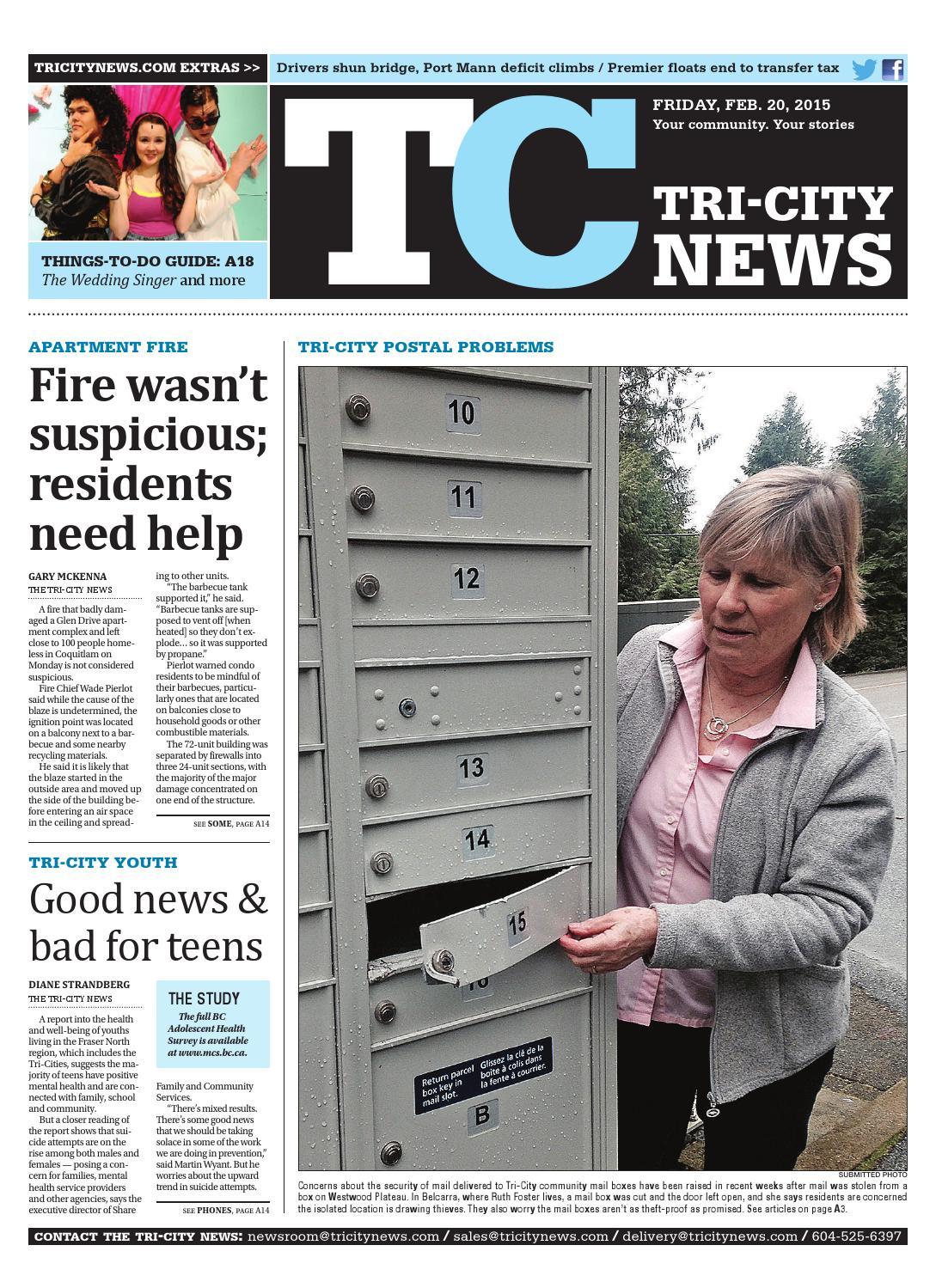The Tri-City News, February 20, 2015 by Black Press Media