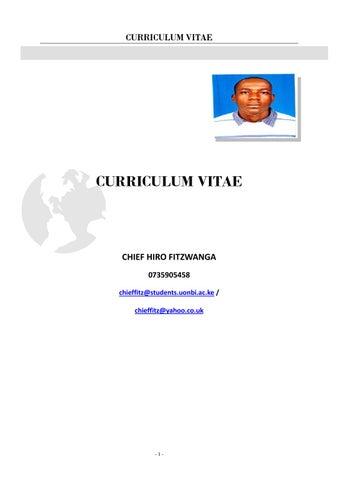 page 1 curriculum vitae