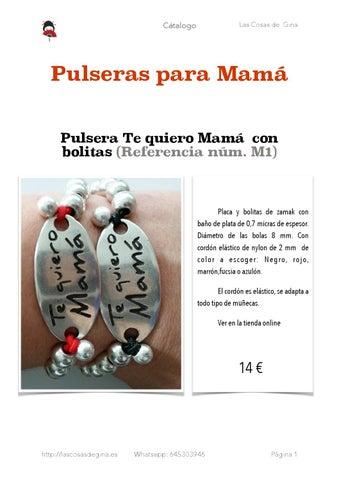 3711f6fd88b4 Catálogo de Pulseras para Mamá de Las Cosas de Gina