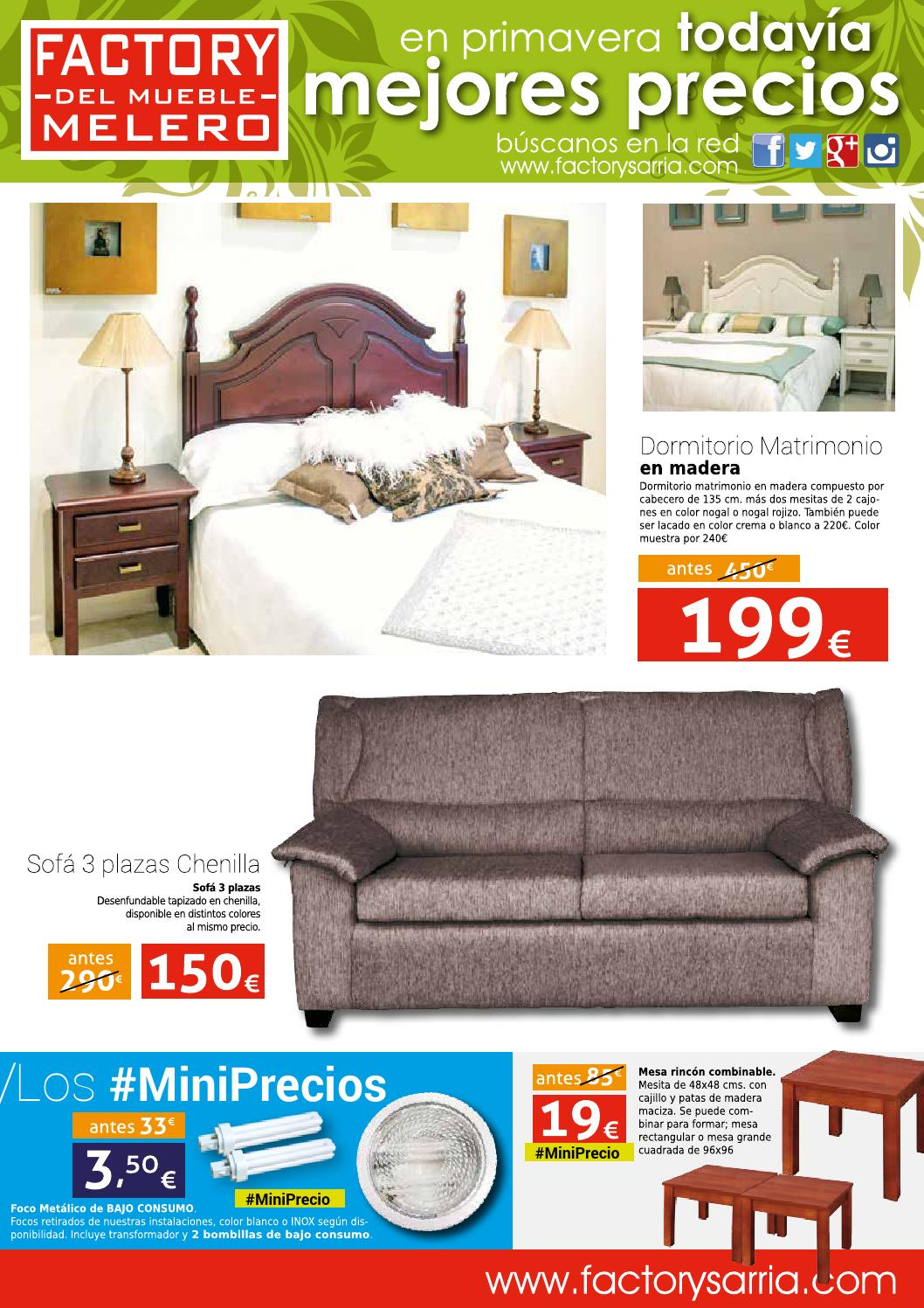 Factory febrero 2015 issuu by muebles sarria issuu for Muebles sarria dos hermanas