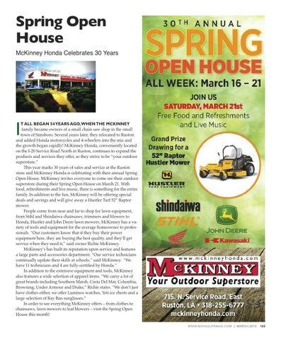 Page 123. Spring Open House. McKinney Honda ...
