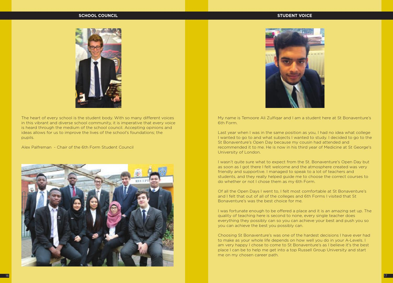 6th form prospectus 2014 by st bonaventures issuu ccuart Choice Image