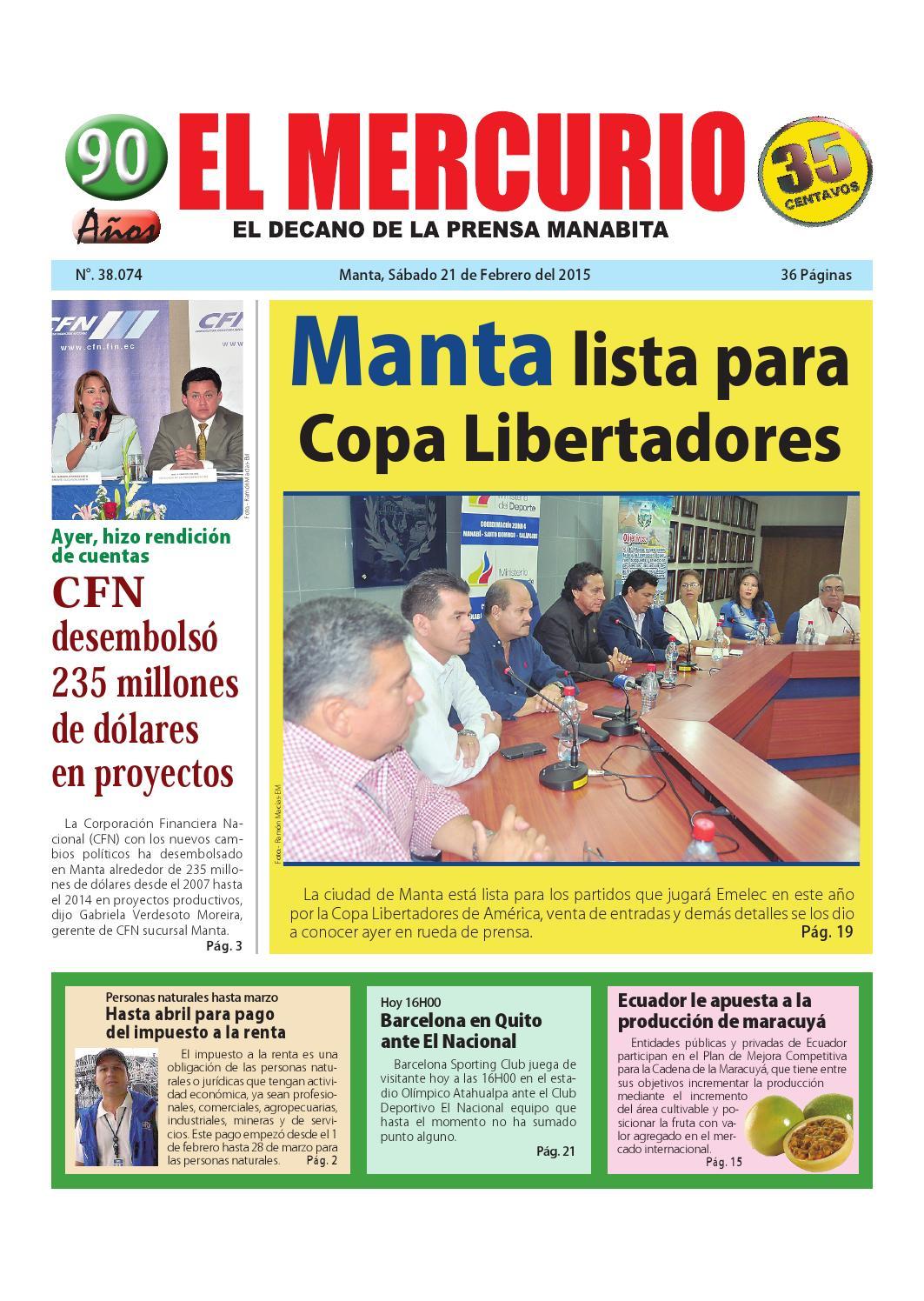 Mercurio sabado 21 de febrero 2015 by Diario El mercurio - issuu