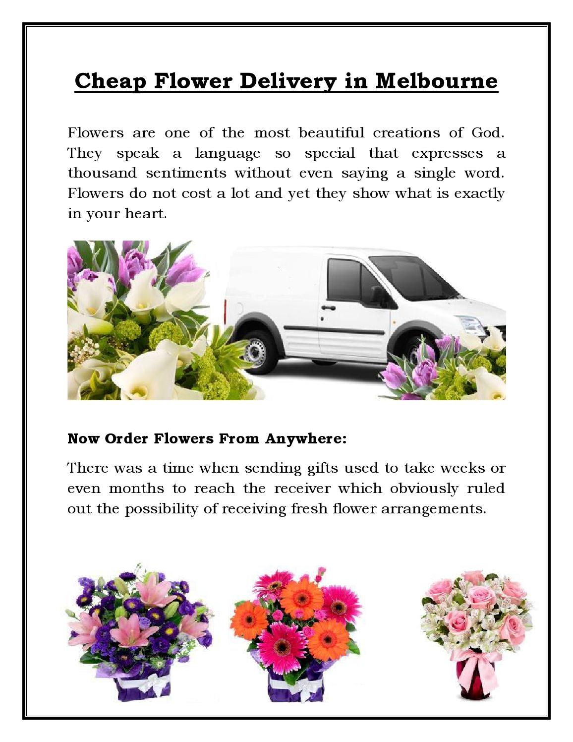 Cheap flower delivery melbourne by thanks a bunch florist issuu izmirmasajfo