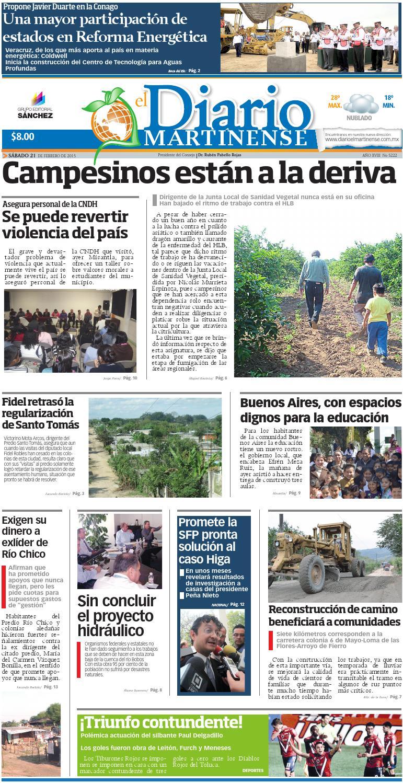El Diario Martinense 21 De Febrero De 2015 By Diario De Poza Rica  # Cota Muebles Teziutlan Puebla