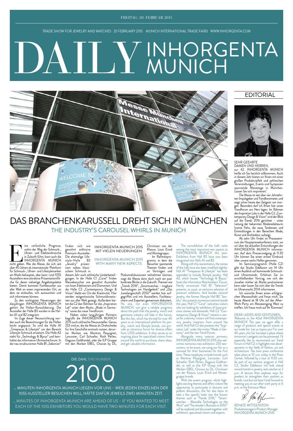 Daily News Inorgenta Munich Freitag By Katrin Falkenberg