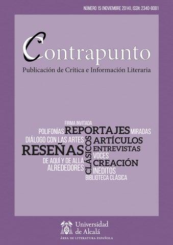 015bbd8a82 Contrapunto - Número 15 by Revista Contrapunto - issuu